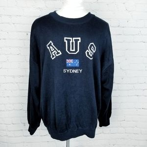 AUS|Sydney Australia Pullover Sweater in Navy